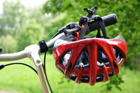 Bicycle and Helmet for Safety